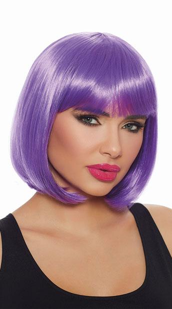 Ultra Violet Bob Wig - Violet