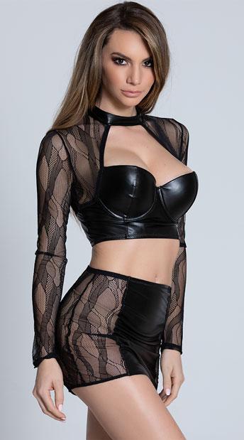 Ride The Edge Skirt Set - Black