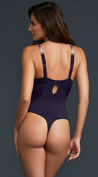 Play Mind Games Bodysuit - Eggplant