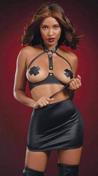 Spank Me Sweetie Skirt Set - Black