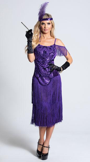 Purple Flapper Costume for halloween