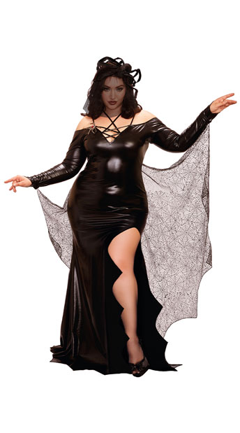 Plus Size The Black Widow Costume, plus size black spider costume - Yandy.com