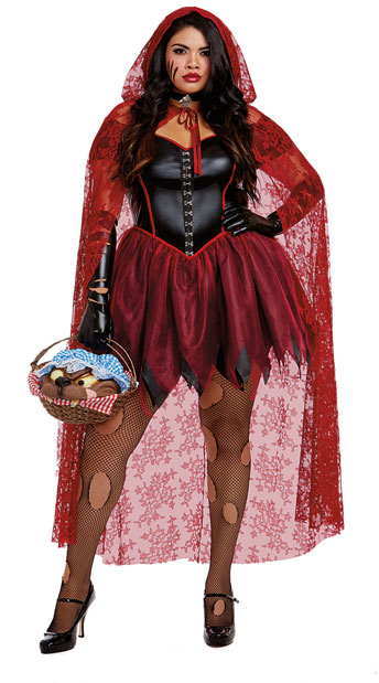 Plus Size Big Bad Red Costume, Sexy Little Red Riding Hood - Yandy.com