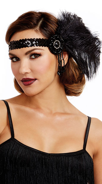1920s accessories for flapper costumes