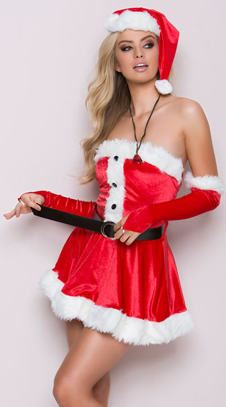 Santa's Sweetie Costume - Red/White
