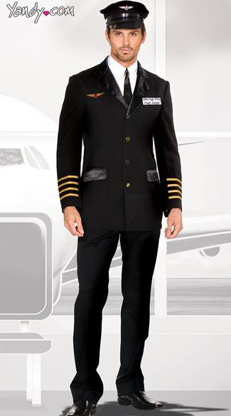 Men S Pilot Captain Costume Adult Pilot Captain Costume