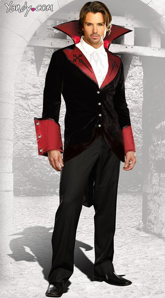 Mens Just One Bite Costume, Male Vampire Costume