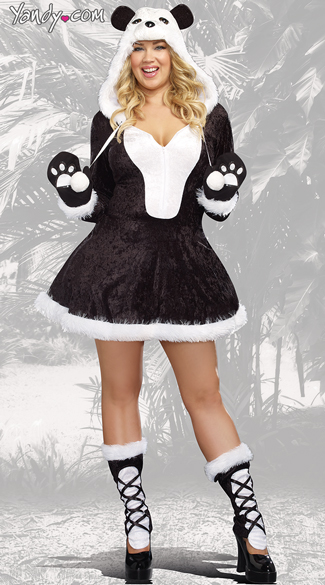 Plus Size Sexy Panda Bear Costume Plus Size Panda Costume