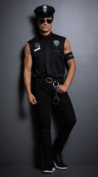 Dirty Cop Officer Ed Banger Costume - as shown