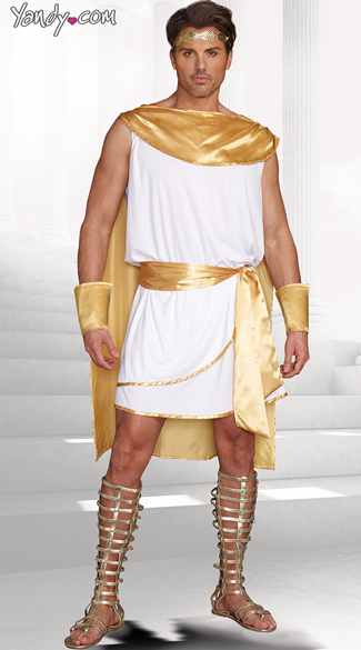 Hes A God Costume, Male God Costume, Greek God Costume