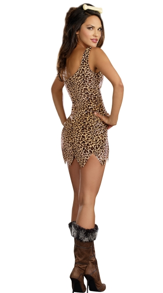 Cave Girl Starter Dress - Animal Print