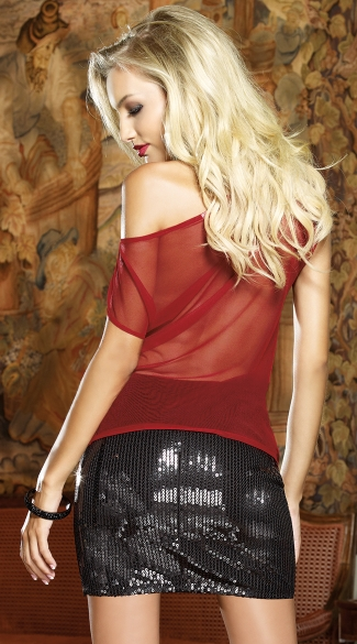 Blackout Illusion Club Top - Rouge