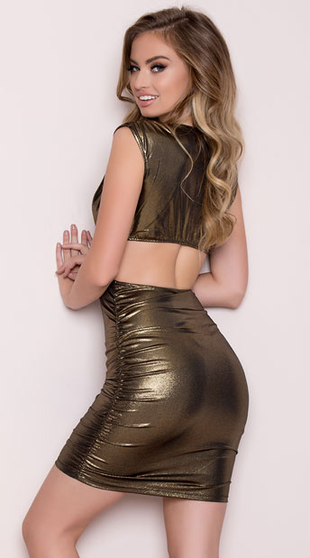 Gold Rush Club Dress - Gold