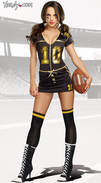Players Club Football Costume, Female Football Player Costume-7040