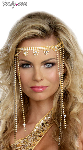 Sparkling Roman Headpiece - Gold