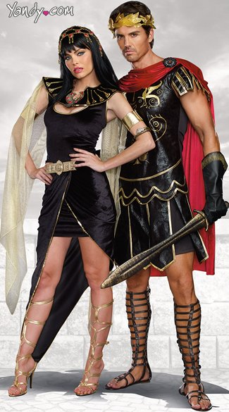 Julius Caesar Costume Black Faux Leather Julius Caesar Costume Black Roman Solider Costume Cleo Costume Egyptian Queen Costume Black and Gold Cleo ...  sc 1 st  Yandy : leather gladiator costume  - Germanpascual.Com