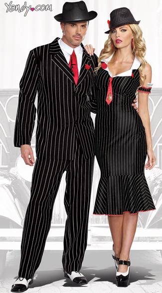 mens gangsta costume male mobster costume deadly dames costume