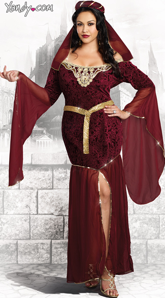 Plus Size Medieval Enchantress Costume - Red ... 9e7117fcf336