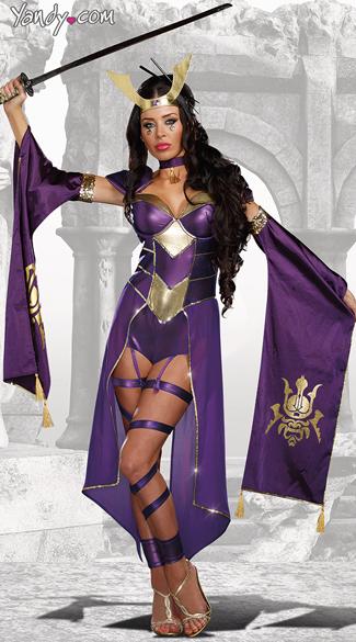 Mortal Samurai Costume - Purple