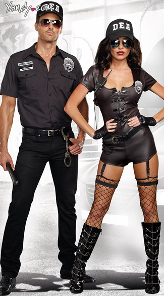 DEA Secret Agent Couple Costume Sc 1 St Yandy  sc 1 st  Germanpascual.Com & Police Costume Men u0026 DEA Secret Agent Couple Costume Sc 1 St Yandy