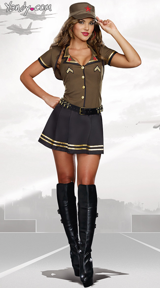 Sexy Army Brat Costume, Sexy Army Girl, Sexy Military Costume