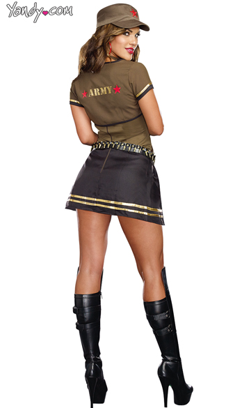 Sexy Army Brat Costume, Sexy Army Girl, Sexy Military Costume-5451