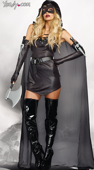 Sexy Executioner Costume - Black