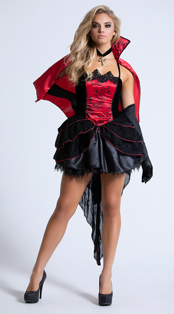 To Die For Vampire Costume - As Shown