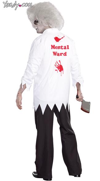 Dr. Hugh B. Dead Zombie Costume - White