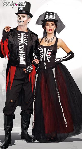 Mr. Bones and Mrs. Bones Couple Costumes  sc 1 st  Yandy & Mr. Bones Skeleton Costume Menu0027s Skeleton Costume Skeleton Suit ...