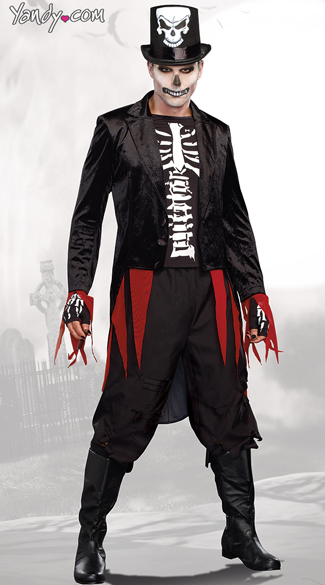 Mr. Bones Skeleton Costume - Black