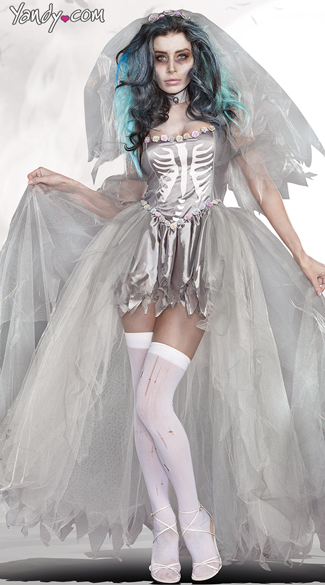 Bride Of Doom Costume - Gray