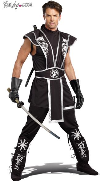 Men's Blades Of Death Ninja Costume - Black