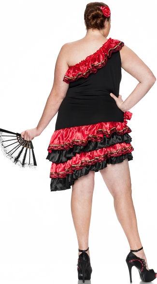 Plus Size Spanish Heat Costume - Black/Red