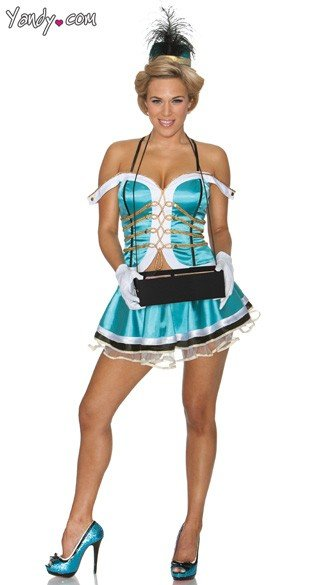 Sexy Cigarette Girl Halloween Costume, Cigar Girl Costume, Flapper Halloween Costume