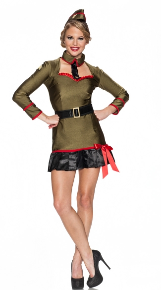 Corporal Cutie Costume, Corporal Costume, Army Officer Costume