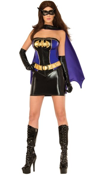 Batgirl Costume, Batman Costume for Women, Women\'s Batman Halloween Costume