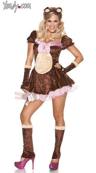 Plus Size Beary Cute - Brown
