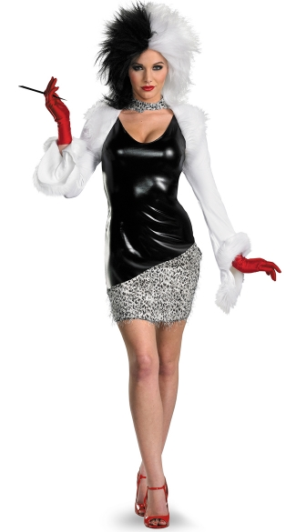 sexy cruella devil costume cruella deville halloween costume. Black Bedroom Furniture Sets. Home Design Ideas