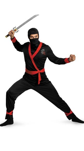 Men's Ninja Master Costume - As Shown
