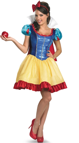 Snow White Adult Costume, Puff Sleeve Snow White Costume, Female Snow White Costume