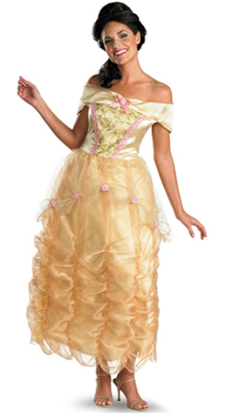 Belle Adult Costume, Yellow Princess Costume, Long Princess Costume, Belle Princess Costume