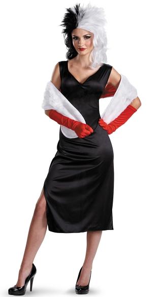 women 39 s cruella devil costume cruella de vil halloween. Black Bedroom Furniture Sets. Home Design Ideas