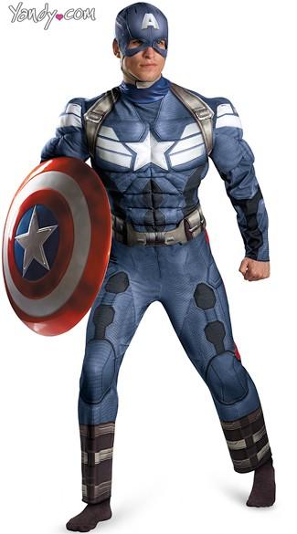 Menu0027s Muscular Captain America Costume  sc 1 st  Yandy & Menu0027s Muscular Captian America Costume Superhero Costumes For Men ...