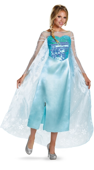 Adult Elsa Frozen Costume - Blue