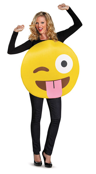 Tongue Out Emoji Costume, Emoji Costume, Smiley Face Costume