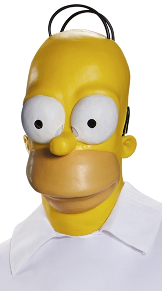 Homer Simpson Mask - As Shown