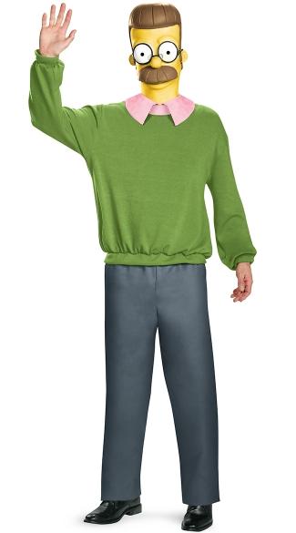 Men's Ed Flanders Costume - As Shown