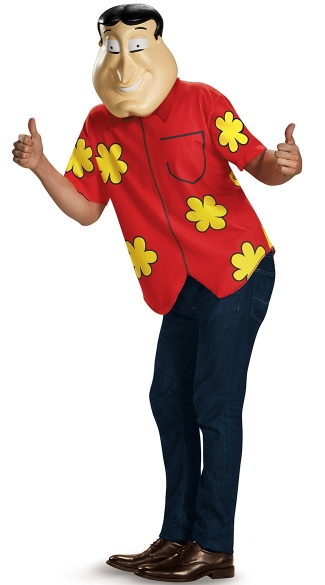 Quagmire Family Guy Costume, Quagmire Deluxe Adult