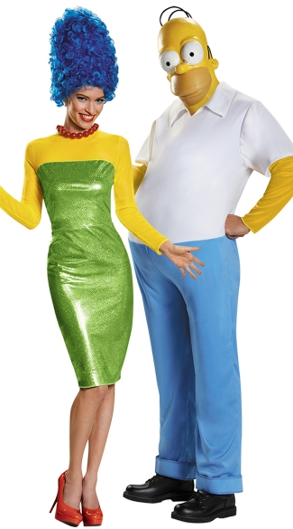 The Simpsons Couples Costume  sc 1 st  Yandy & The Simpsons Couples Costume Deluxe Homer Simpson Costume Homer ...